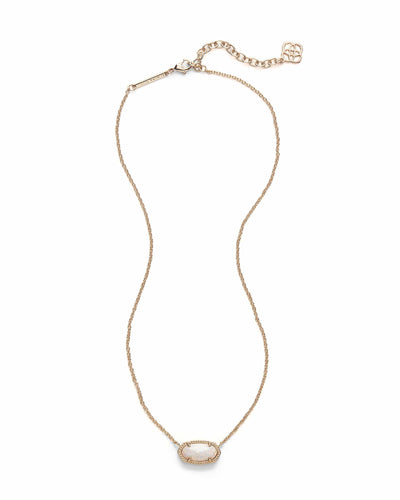 NECKLACES - Kendra Scott Elisa White Kyocera Opal Gold Necklace