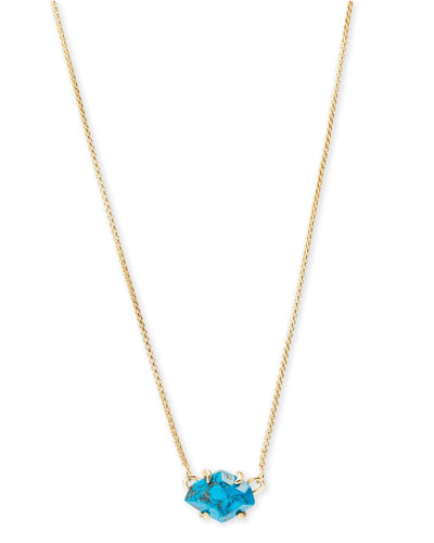 Kendra Scott Ethan Gold Aqua Howlite Necklace