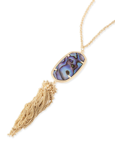 NECKLACES - Kendra Scott Rayne Abalone Shell Gold Necklace With Tassel