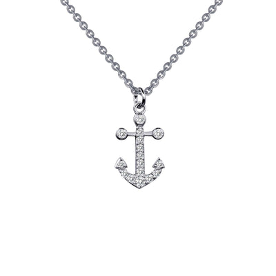 NECKLACES - Lafonn Sterling Silver Anchor Charm Necklace