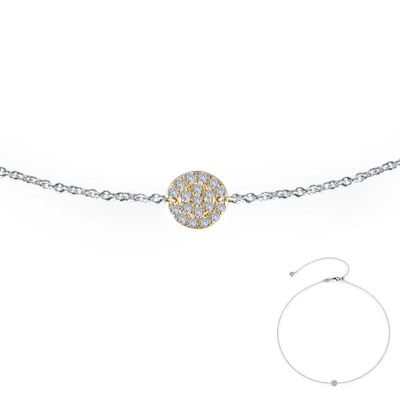 4a91f3009 NECKLACES - Lafonn Yellow Gold Plated Round Cluster Disc Simulated Diamond  Necklace
