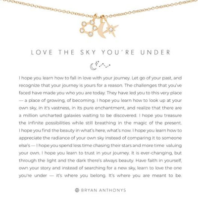 NECKLACES - Love The Sky You're Under Yellow Gold Finish 18 Inch Necklace