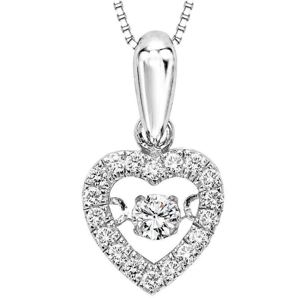 10k Rhythm Of Love 1 5cttw Diamond Heart Shaped Necklace