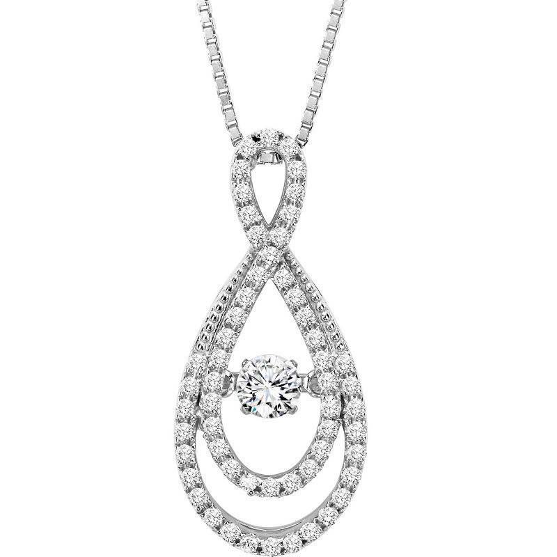 Rhythm of love diamond jewelry powered by her heartbeat mullen rhythm of love 14k rhythm of love 23cttw double infinity diamond necklace aloadofball Image collections