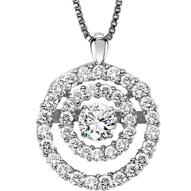 Rhythm of love diamond jewelry powered by her heartbeat mullen rhythm of love 14k rhythm of love 38cttw double halo diamond necklace aloadofball Image collections