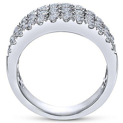 14K White Gold 2ct Statement Diamond Fashion Ring