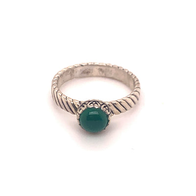 Samuel B. Sterling Silver Green Onyx Stackable Birthstone Ring