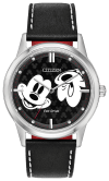 Watches - Citizen Eco-Drive Mickey Mouse Unisex Watch With Leather Strap
