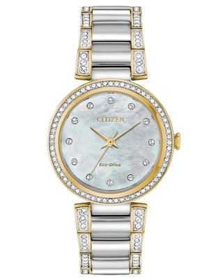 Citizen Eco-Drive Silhouette Crystal Women's Swarovski Watch