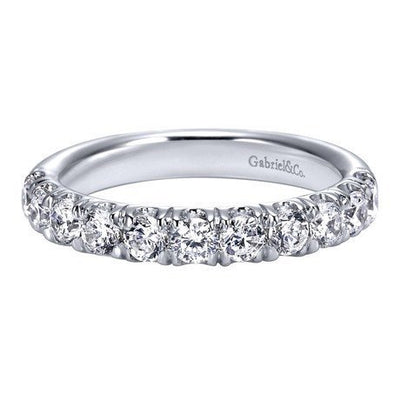 WEDDING - 14K White Gold 1.00cttw French Pave Diamond Band