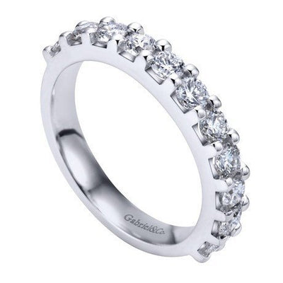 WEDDING - 14K White Gold 1.00cttw Pave Diamond Band