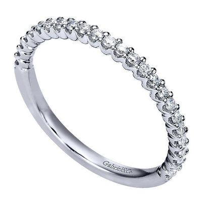 WEDDING - 14k White Gold 1/4cttw U Prong Diamond Wedding Band