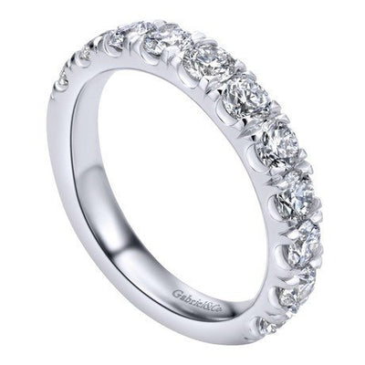WEDDING - 14K White Gold 1.50cttw French Pave Diamond Band