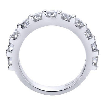 WEDDING - 14K White Gold 1.50cttw Pave Diamond Band