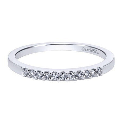 WEDDING - 14K White Gold .10cttw Pave Diamond Band
