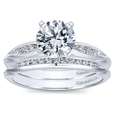 WEDDING - 14K White Gold .13cttw Channel Set Diamond Wedding Band