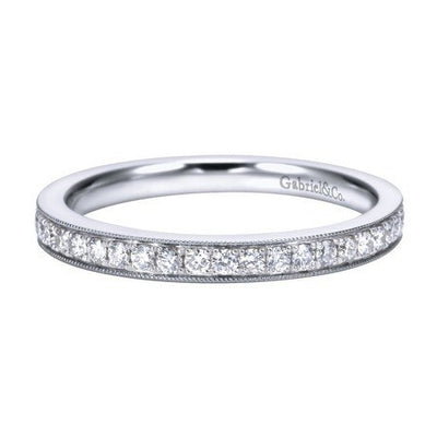 WEDDING - 14K White Gold .25cttw Bead Set Diamond Band