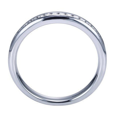 WEDDING - 14K White Gold .25cttw Channel Set Diamond Band