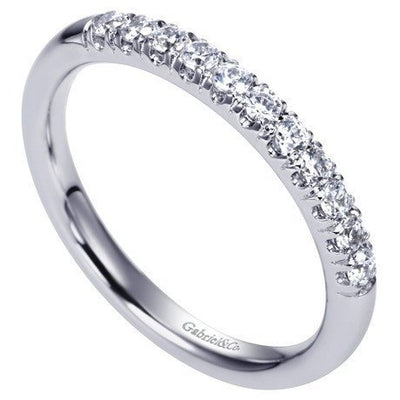 WEDDING - 14K White Gold .25cttw French Pave Diamond Band