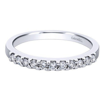 WEDDING - 14K White Gold .25cttw Pave Diamond Band