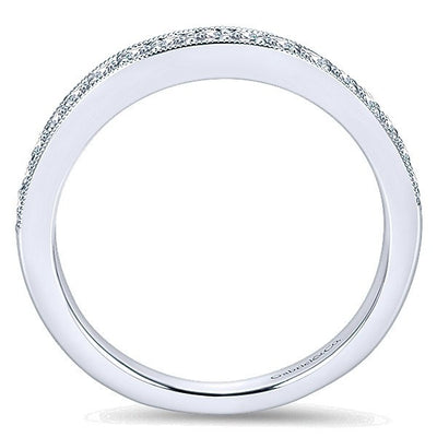 WEDDING - 14k White Gold .31cttw Bead Set Diamond Wedding Band
