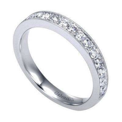 WEDDING - 14K White Gold .50cttw Bead Set Diamond Band