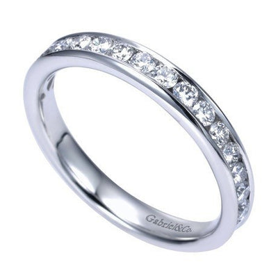 WEDDING - 14K White Gold .50cttw Channel Set Diamond Band