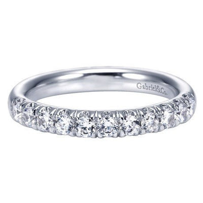 WEDDING - 14K White Gold .50cttw French Pave Diamond Band