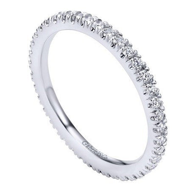 WEDDING - 14K White Gold .50cttw French Pave Set Eternity Diamond Band