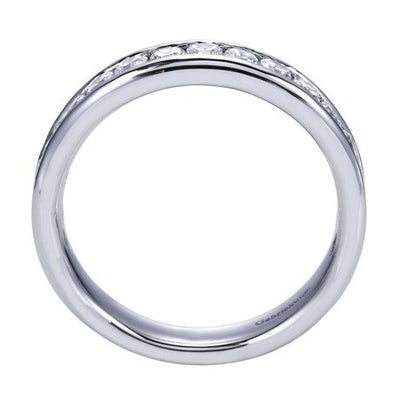 WEDDING - 14K White Gold .75cttw Channel Set Diamond Band