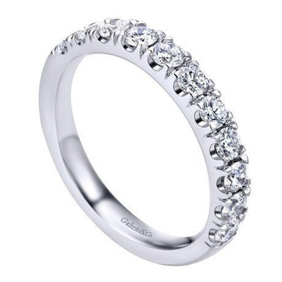 WEDDING - 14K White Gold .75cttw French Pave Diamond Band
