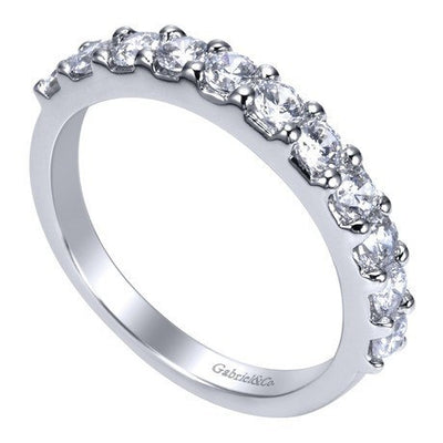 WEDDING - 14K White Gold .75cttw Pave Diamond Band