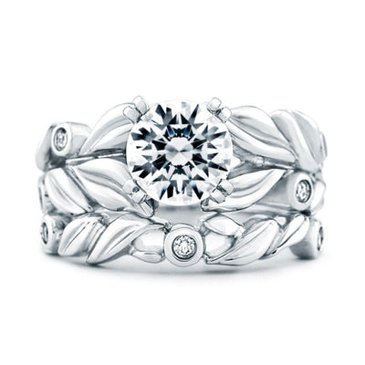 WEDDING - Mark Schneider Flora .04cttw Prong Set Contoured Diamond Wedding Band