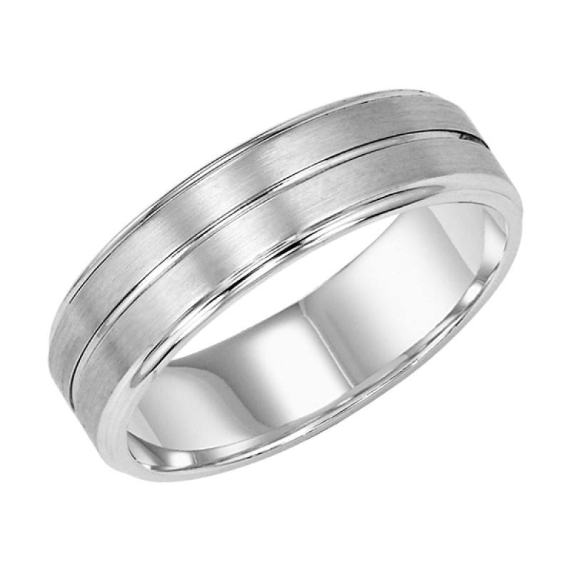 wedding palladium 6mm wide mens wedding band with center groove - Mens Wedding Rings Platinum