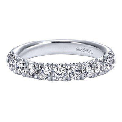 WEDDING - Platinum 1.00cttw French Pave Diamond Wedding Band