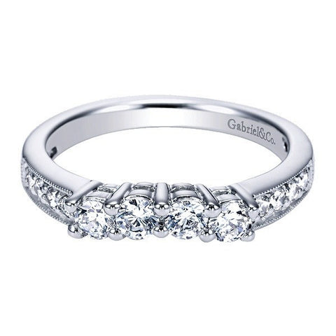 Curved Diamond Wedding Bands - Mullen Jewelers