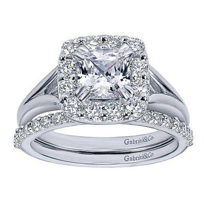 Wedding Ring - 14K White Gold .29cttw Prong Set Diamond Wedding Band