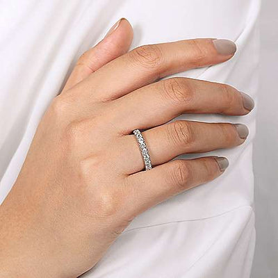 Wedding Ring - 14k White Gold .79cttw Prong Set Round Diamond Wedding Band