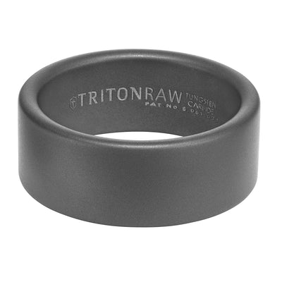 Wedding Ring - Raw Tungsten Carbide 9mm Wide Mens Wedding Ring