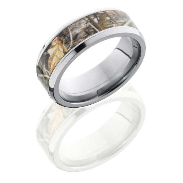titanium 8mm wide realtree max4 camouflage wedding band