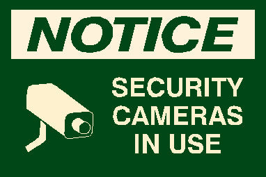 Security Cameras Sign