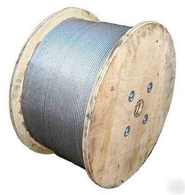 "Galvanized Aircraft Cable, 5/16"" - 500 FT"