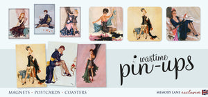 posters postcards coasters magnets pin-ups