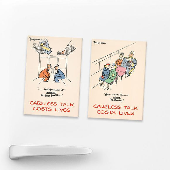 SET OF 2 MAGNETS: CARELESS TALK (SET 1)