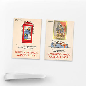 SET OF 2 MAGNETS: CARELESS TALK (SET 4)