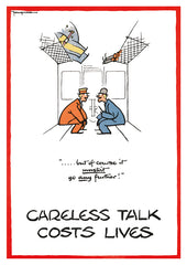 POSTCARD: Careless Talk Costs Lives - But Of Course It Mustn't Go Any Further!