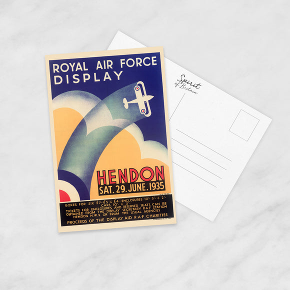 POSTCARD: Royal Air Force Display Hendon (29 June 1935)