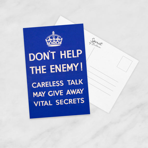 POSTCARD: Don't Help The Enemy!