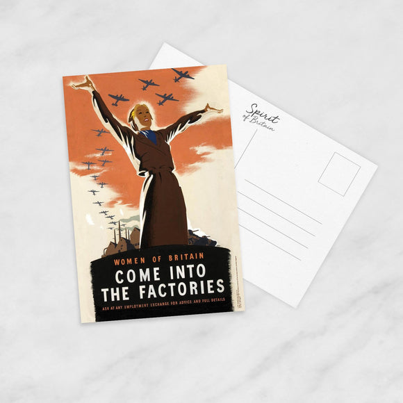 POSTCARD: Come Into The Factories
