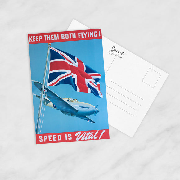 POSTCARD: Keep Them Both Flying!